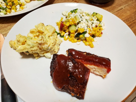 Picture of Smoked Chicken, Potato Salad, & Corn Salad